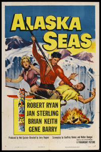 "Alaska Seas (Paramount, 1954). One Sheet (27"" X 41""). Adventure. Starring Robert Ryan, Jan Sterling, Brian Kei..."