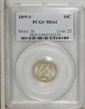 Barber Dimes: , 1899-S 10C MS64 PCGS. PCGS Population (23/16). NGC Census: (8/8). Mintage: 1,867,493. Numismedia Wsl. Price: $1,325. (#4820...