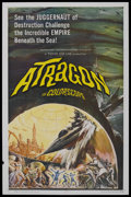 "Movie Posters:Science Fiction, Atragon (American International, 1964). One Sheet (27"" X 41""). Science Fiction. Starring Tadao Takashima, Yoko Fujiyama, Yu ..."