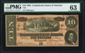 Confederate Notes:1864 Issues, T68 $10 1864 PMG Choice Uncirculated 63.. ...