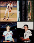 Autographs:Photos, Mark Fidrych Signed Photograph Lot of 4....