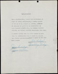 Autographs:Letters, 1951 Gil Hodges Signed General Electric Advertising Contra...
