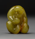 Decorative Accessories, A Chinese Yellow Jade Monkey Carving. 1-1/2 x 1-1/4 inches (3.8 x 3.2 cm). ...