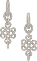 Estate Jewelry:Earrings, Diamond, White Gold Earrings, Diane Von Furstenberg for H. Stern. ...