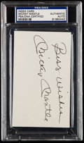 """Autographs:Index Cards, Mickey Mantle """"Best Wishes"""" Signed Index Card, PSA/DNA Authentic...."""