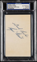 "Autographs:Index Cards, Roger Maris ""Good Luck"" Signed Index Card, PSA/DNA Authentic.. ..."