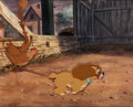 Animation Art:Production Cel, Lady and the Tramp Lady with Muzzle Production Cel (WaltDisney, 1955)....