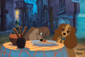 "Animation Art:Limited Edition Cel, Lady and the Tramp ""Beautiful Night"" Limited Edition 1 of 1 Cel (Walt Disney, 1997)...."