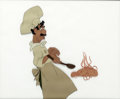 "Animation Art:Production Cel, Lady and the Tramp Joe with ""Bella Notte"" Spaghetti Production Cel (Walt Disney, 1955)...."