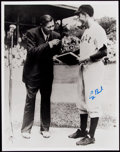 Autographs:Photos, President George H.W. Bush Signed Oversized Photograph with Babe Ruth....