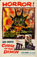 "Movie Posters:Horror, Curse of the Demon (Columbia, 1957). Folded, Fine/Very Fine. OneSheet (27"" X 41""). Horror.. ..."