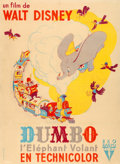 """Movie Posters:Animation, Dumbo (RKO, 1941). Fine/Very Fine on Linen. French Grande (45.75"""" X 62.25"""") Alexis Artwork.. ..."""