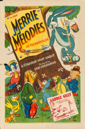 "Movie Posters:Animation, Merrie Melodies (Warner Brothers, 1941). Folded, Fine/Very Fine.Stock One Sheet (27"" X 41"") ""Saddle Silly.""..."