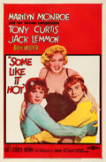"""Movie Posters:Comedy, Some Like It Hot (United Artists, 1959). Fine+ on Linen. One Sheet(27"""" X 41"""").. ..."""