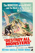 """Movie Posters:Science Fiction, Destroy All Monsters (American International, 1969). Fine/Very Fine on Linen. One Sheet (27"""" X 41""""). Reynold Brown Artwork...."""