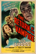 """Movie Posters:Horror, The Return of the Vampire (Columbia, 1943). Very Fine- on Linen. One Sheet (27"""" X 41"""").. ..."""