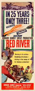 "Movie Posters:Western, Red River (United Artists, 1948). Folded, Very Fine. Insert (14"" X 36"").. ..."