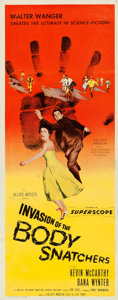 """Movie Posters:Science Fiction, Invasion of the Body Snatchers (Allied Artists, 1956). Folded, Very Fine-. Insert (14"""" X 36"""").. ..."""