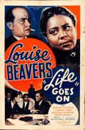 Movie Posters:Black Films, Life Goes On (Million Dollar Distributing Co., 1938). Fold...