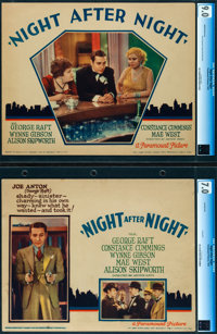 "Night After Night (Paramount, 1932). Very Fine. CGC Graded Lobby Cards (2) (11"" X 14""). ... (Total: 2 Items)"