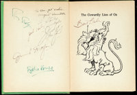 The Cowardly Lion by Ruth Plumly Thompson (Reilly & Lee Company, 1923). Fine/Very Fine. MGM Cast Signed First Ed...