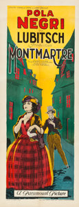 "Movie Posters:Drama, Montmartre (Paramount, 1924). Fine/Very Fine on Paper. Insert (14""X 36"").. ..."