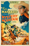 "Movie Posters:Serial, Mystery Mountain (Mascot, 1934). Very Fine- on Linen. One Sheet (27"" X 41"") Chapter 1 -- ""The Rattler."". ..."