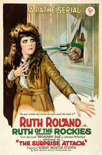 """Ruth of the Rockies (Pathé, 1920). Very Fine on Linen. One Sheet (26.75"""" X 40.75"""") Chapter 13 -- """"..."""