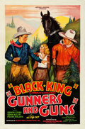 "Movie Posters:Western, Gunners and Guns (Beaumont, 1935). Fine+ on Linen. One Sheet (27"" X 41"").. ..."