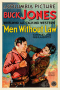 "Movie Posters:Western, Men Without Law (Columbia, 1930). Fine+ on Linen. One Sheet (27"" X 41"").. ..."