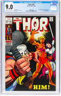 Silver Age (1956-1969):Superhero, Thor #165 (Marvel, 1969) CGC VF/NM 9.0 Off-white to white pages....