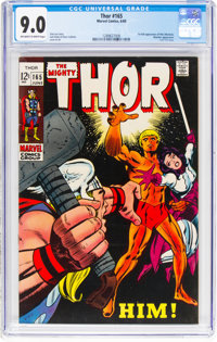 Thor #165 (Marvel, 1969) CGC VF/NM 9.0 Off-white to white pages