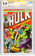 Bronze Age (1970-1979):Superhero, The Incredible Hulk #181 Signature Series (Marvel, 1974) CGC NM 9.4 White pages....
