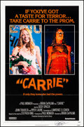 """Movie Posters:Horror, Carrie (United Artists, 1976). Folded, Very Fine. Autographed One Sheet (27"""" X 41""""). Horror.. ..."""