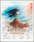 """Movie Posters:Serial, Stars of Republic Pictures & Other Lot (Nostalgia Merchant,1977). Rolled, Very Fine+. Autographed Posters (2) (30"""" X..."""