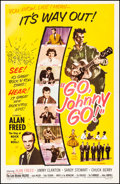 """Movie Posters:Rock and Roll, Go, Johnny, Go! (Hal Roach, 1959). Fine/Very Fine on Linen. One Sheet (27"""" X 41""""). Rock and Roll.. ..."""