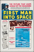 "Movie Posters:Science Fiction, First Man into Space (MGM, 1959). Folded, Very Fine-. One Sheet(27"" X 41""). Science Fiction.. ..."