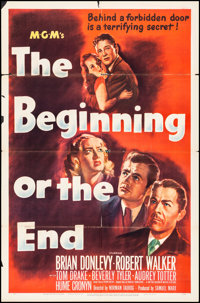 """The Beginning or the End (MGM, 1947). Folded, Fine. One Sheet (27"""" X 41""""). Drama"""