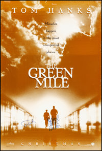 """The Green Mile (Warner Brothers, 1999). Rolled, Very Fine-. Autographed One Sheet (27"""" X 40"""") DS Advance. Crim..."""