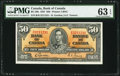 Canadian Currency, BC-26b $50 2.1.1937 PMG Choice Uncirculated 63 EPQ.. ...