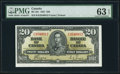 Canadian Currency, BC-25c $20 2.1.1937 PMG Choice Uncirculated 63 EPQ.. ...