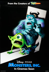 """Monsters, Inc. (Buena Vista, 2001) Rolled, Very Fine+. One Sheet (27"""" X 40"""") DS, Advance. Animation"""