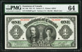 Canadian Currency, DC-18d $1 3.1.1911 PMG Choice Uncirculated 64.. ...