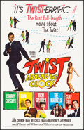 """Movie Posters:Rock and Roll, Twist Around the Clock (Columbia, 1961) Very Fine- on Linen. One Sheet (27"""" X 41.5""""). Rock and Roll.. ..."""