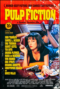 "Pulp Fiction (Miramax, 1994) Rolled, Near Mint. One Sheet (27"" X 40"") SS. Crime"