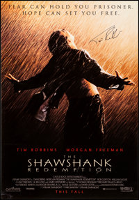 "The Shawshank Redemption (Columbia, 1994). Very Fine- on Linen. Autographed One Sheet (27"" X 41""). Drama"