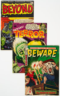Golden Age Horror Group of 4 (Various Publishers, 1952-55) Condition: Average VG+.... (Total: 4 )