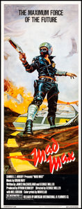 "Movie Posters:Science Fiction, Mad Max (American International, 1980) Rolled, Very Fine-. Insert(14"" X 36"") Bill Garland Artwork. Science Fiction.. ..."