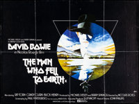 """The Man Who Fell to Earth (Cinema 5, 1976). Folded, Very Fine-. British Quad (30"""" X 40""""). Science Fiction"""