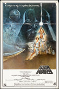 "Movie Posters:Science Fiction, Star Wars (20th Century Fox, 1977) Rolled, Fine+. Soundtrack OneSheet (27"" X 41"") Tom Jung Artwork. Science Fiction.. ..."
